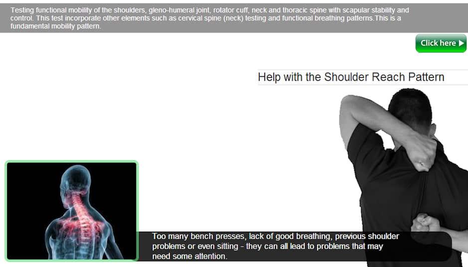 Shoulder Mobility Shoulder Reach SM SR FMS