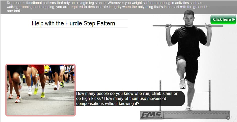 hurdle step fms